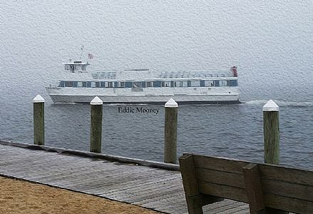 Fire Island Ferry in the fog